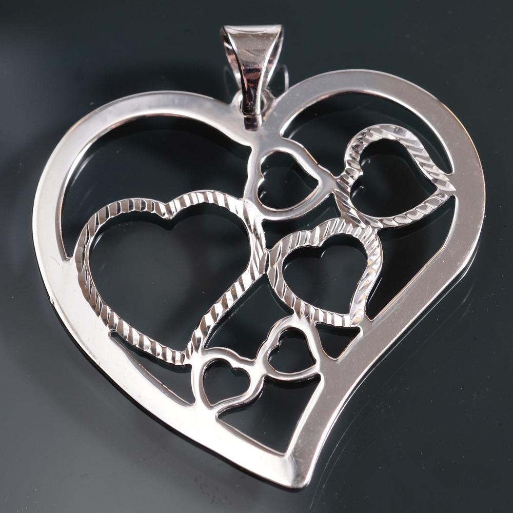 9d5a07c0896 Srdíčka v srdci - přívěsek stříbro 925 1000 Velikost  Malé