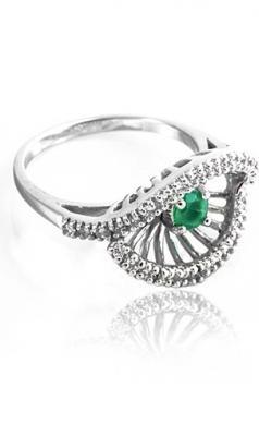 Evon - prsten stříbro 925/1000' Velikost prstenu: 58