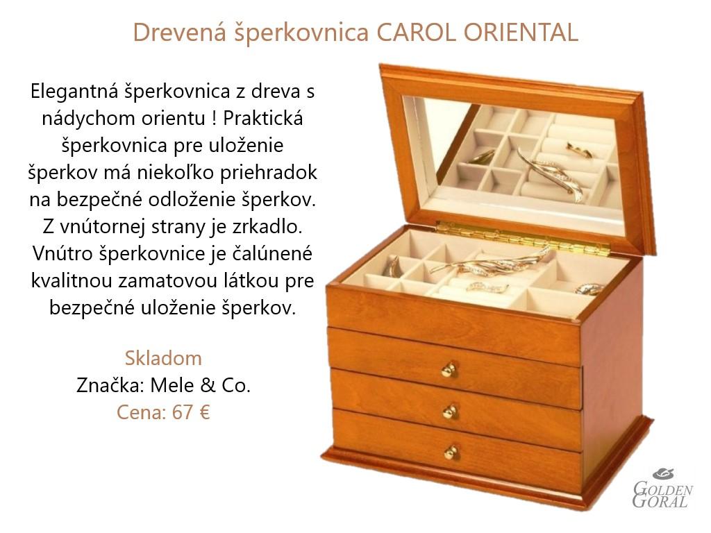 Drevená šperkovnica CAROL ORIENTAL