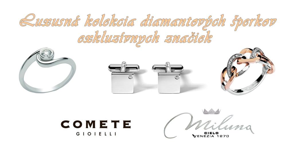 Diamantové šperky Comete a Miluna