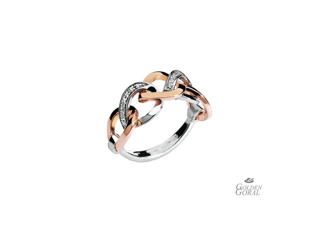 Diamantový zlatý prsteň Bicolor COMETE