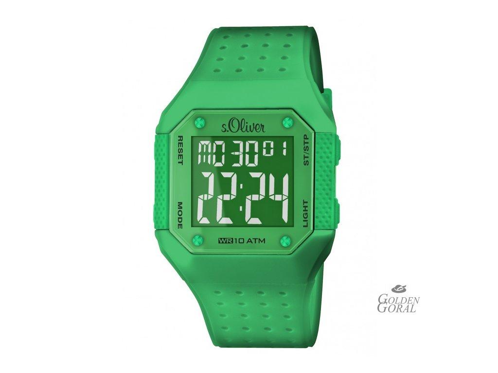 Silikónové digitálne hodinky s.Oliver