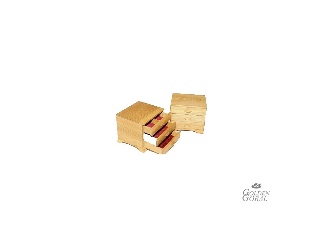 ručne vyrábaná drevena šperkovnica