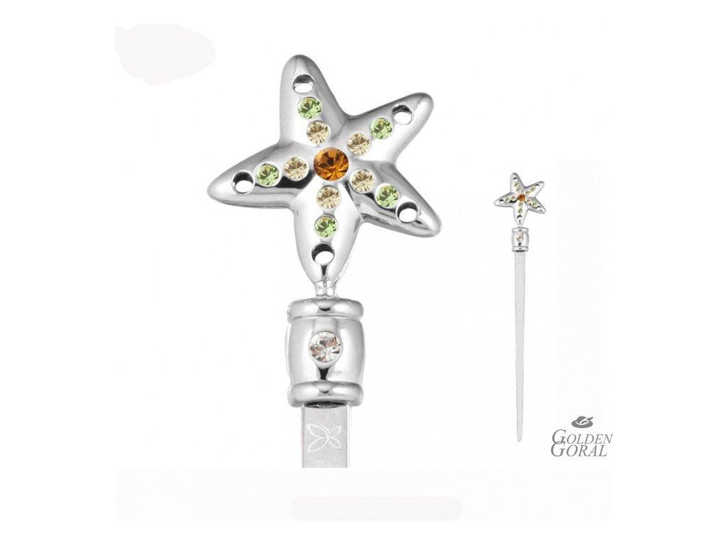 Swarovski crystals Otvárač listov