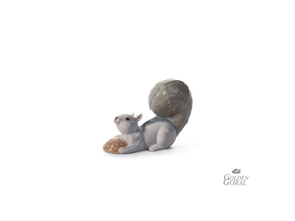 LLADRÓ Festive squirrel III španielsky porcelán 01008165