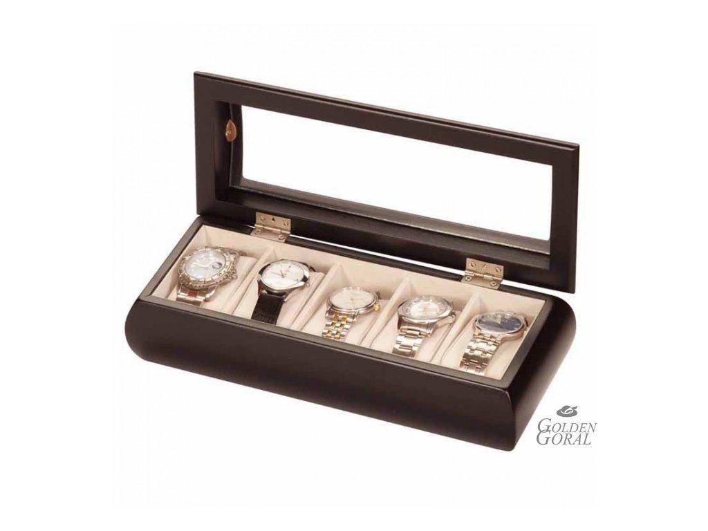 drevený box na hodinky