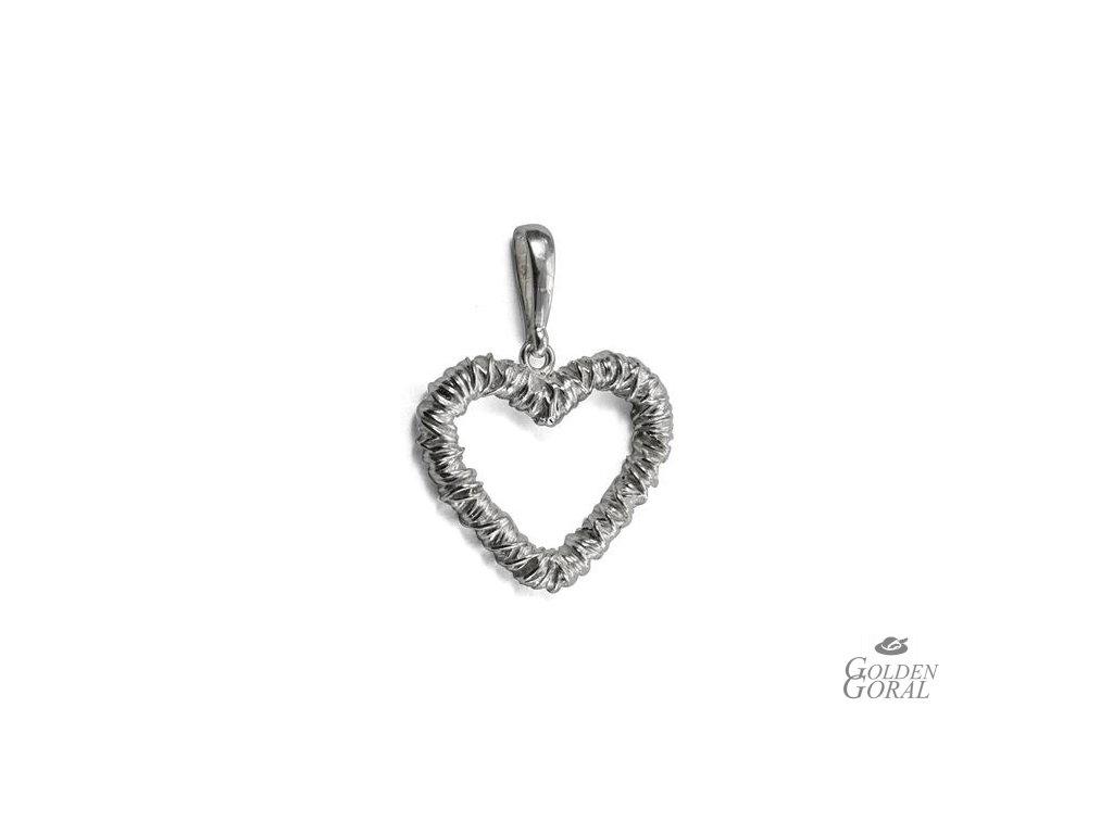 Strieborný prívesok srdce