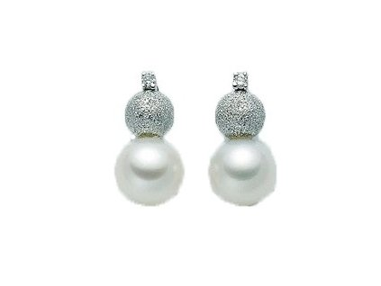 Diamantové náušnice s Perlou MILUNA