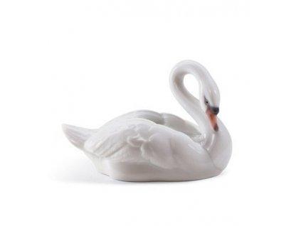 LLADRÓ Elegant swan španielsky porcelán 01008271