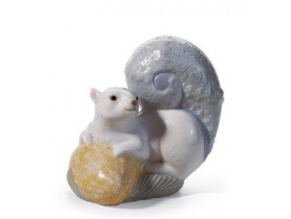 LLADRÓ Festive squirrel I španielsky porcelán 01008163
