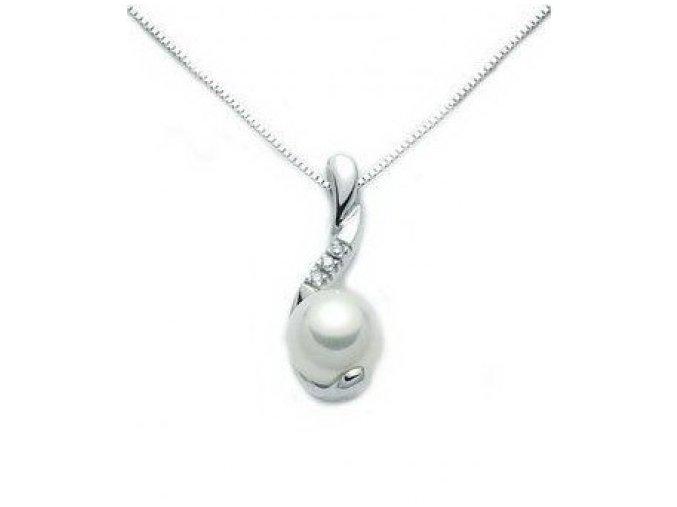 Diamantový prívesok s perlou MILUNA