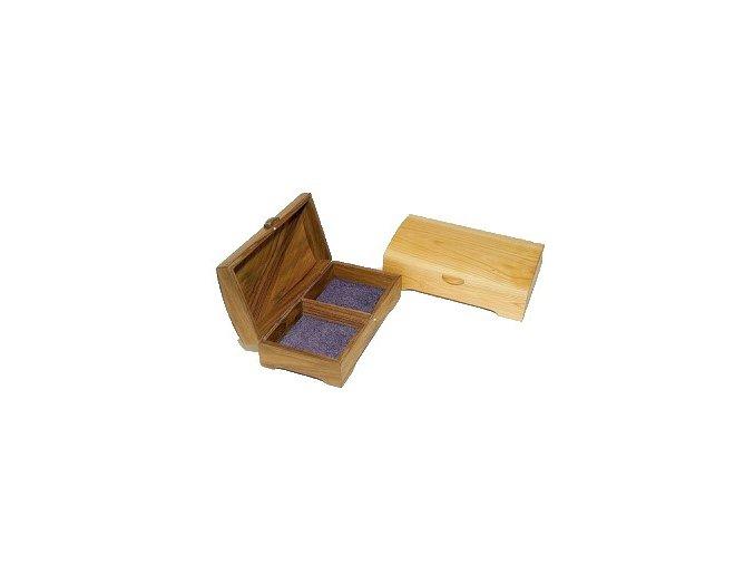 ručne robená drevená šperkovnica