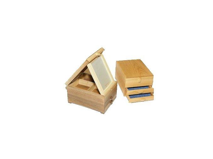 ručene vyrábaná drevená šperkovnica