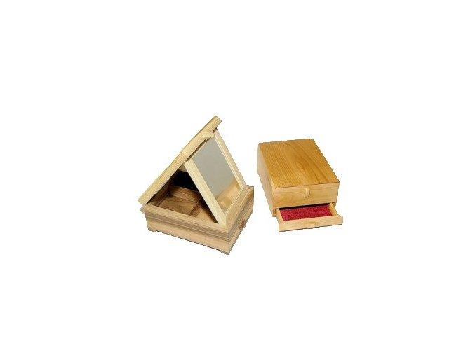 drevena šperkovnica olejovaná