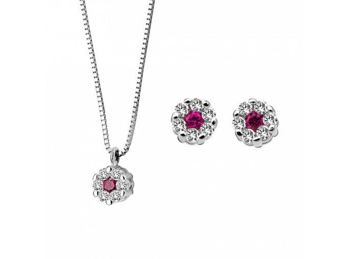 Diamantový set s rubínom COMETE