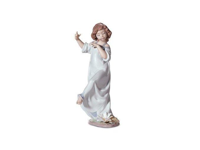 LLADRÓ Daisies, time of joy - sedmokrásky, čas radosti porcelánova socha 01006946