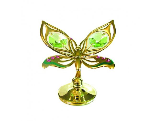 Swarovski crystals Motýľ