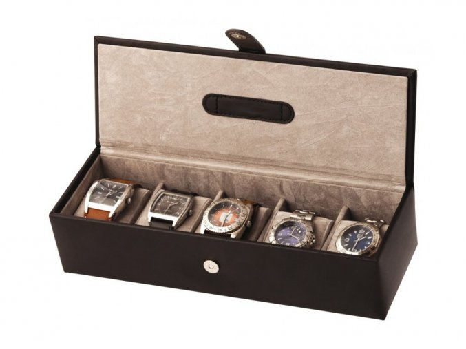 box na hodinky sperkovnica kozenka hneda 7385