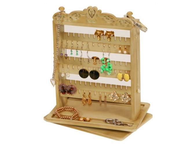 Drevený stojan na šperky
