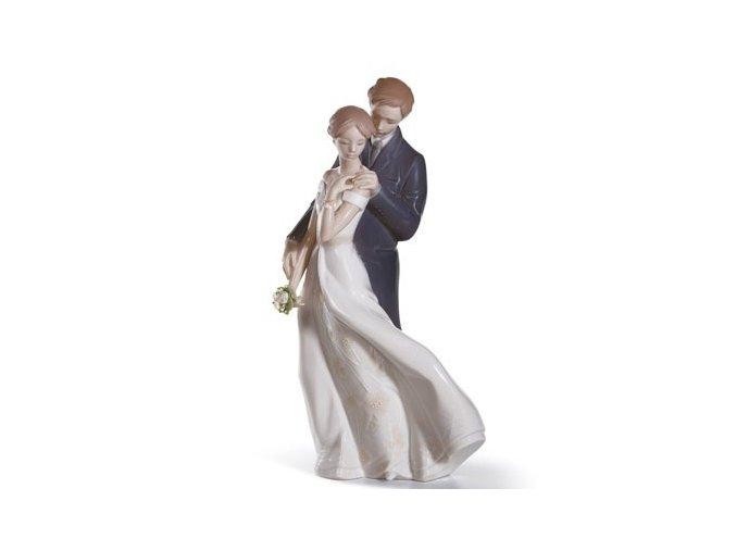 LLADRÓ Everlasting love porcelánová socha 01008274