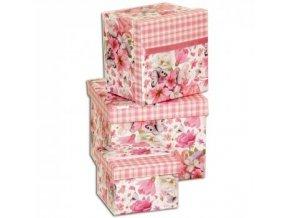 Darčekové krabice ružové káro