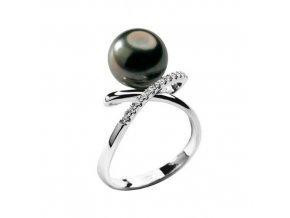 Diamantový zlatý prsteň s Tahitskou perlou COMETE