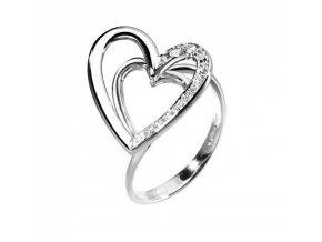 Diamantový zlatý prsteň Srdce COMETE
