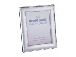 fotoámček z alpaky, fotorámik Queen Anne