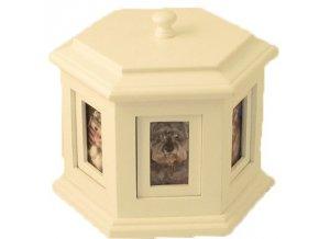 Urna pre domáce zviera - biela