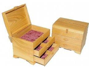 ručne vyrábaná drevená šperkovnica