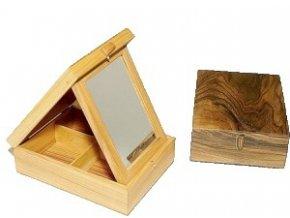ručne robená drevená šperkovnica olejovaná