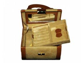 Cestovná kožená šperkovnica BALMORAL
