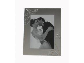fotorámik z alpaky, svadobný fotorámik