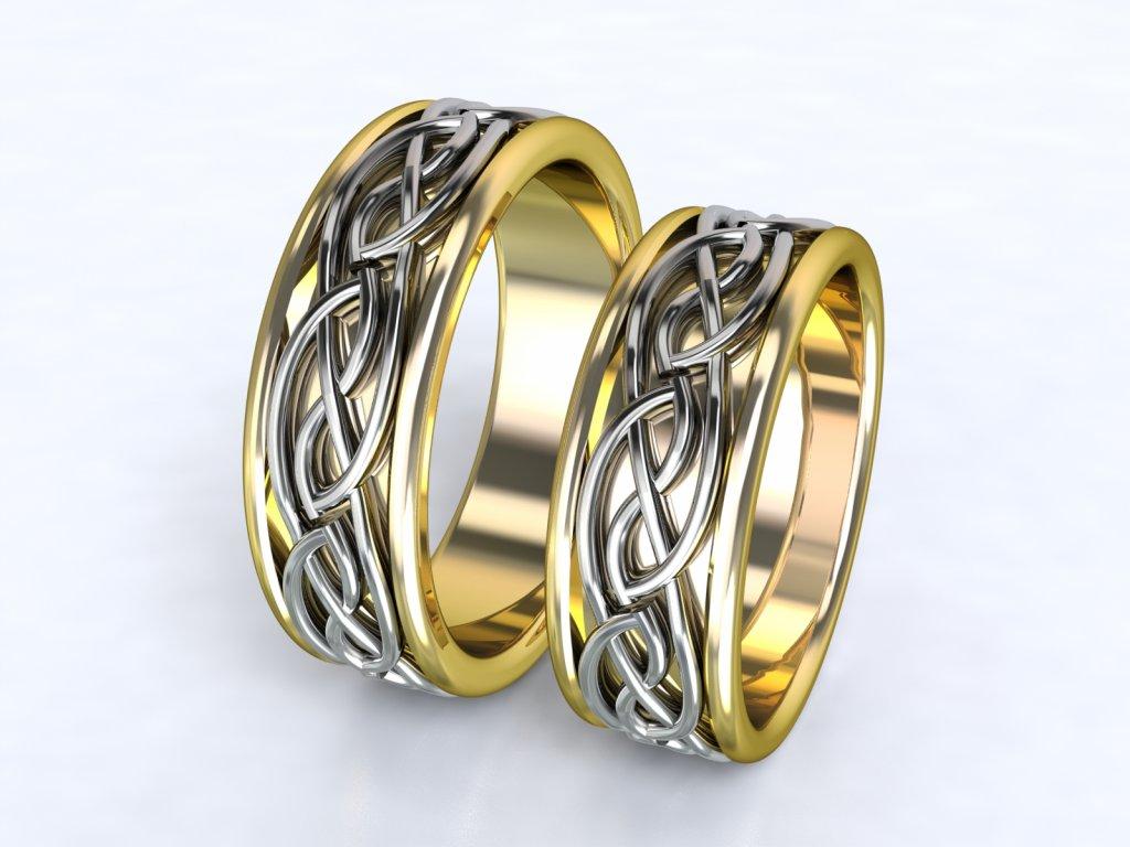 Au585 Snubni Prsteny Dvojbarevne Zlutobile 3305103 3dstyl S R O