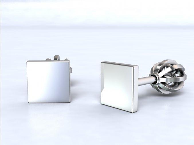 Stříbrné šroubky čtvereček mini