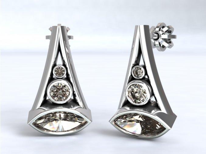 Stříbrné šroubky naveta rozšířené 215401