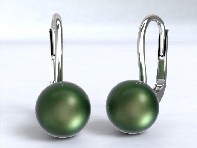 Stříbrné náušnice perla 6 mm 220701