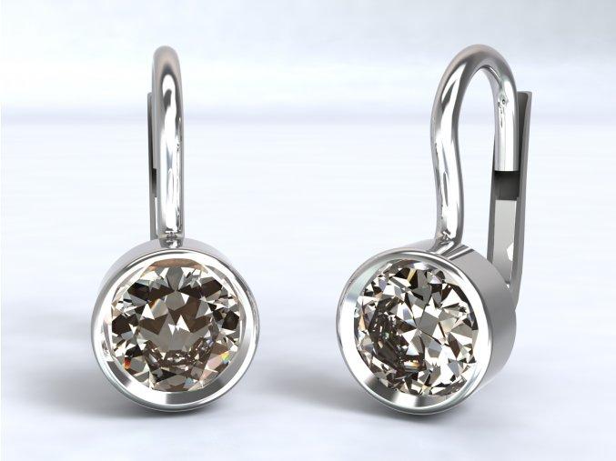 Náušnice 5 mm zirkon stříbrné 222601