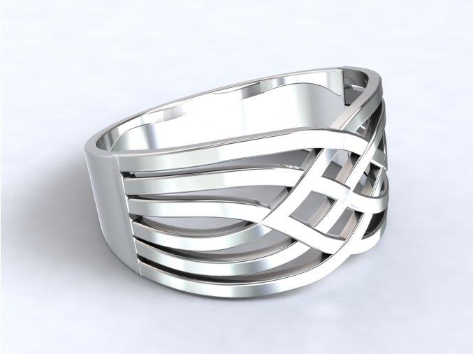 Stříbrný prsten arabeska
