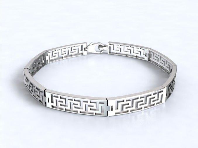 Náramek řecký motiv stříbrný