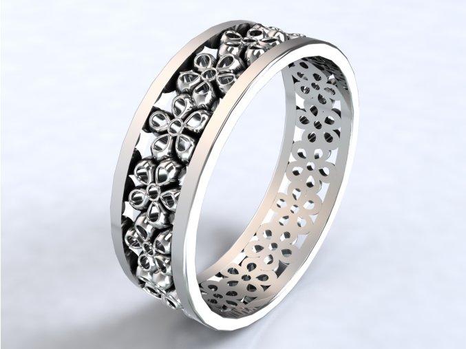 Ag925 prsten kytičky