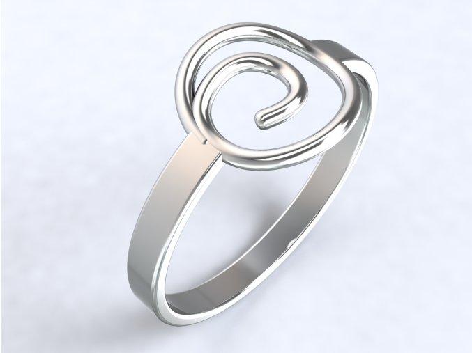 Prsten spirála stříbrný 301001