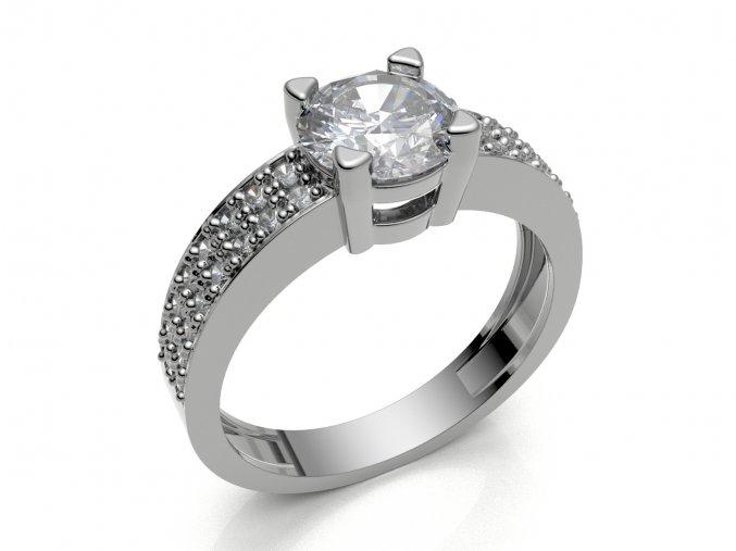 Zlatý prsten s kameny 1301501