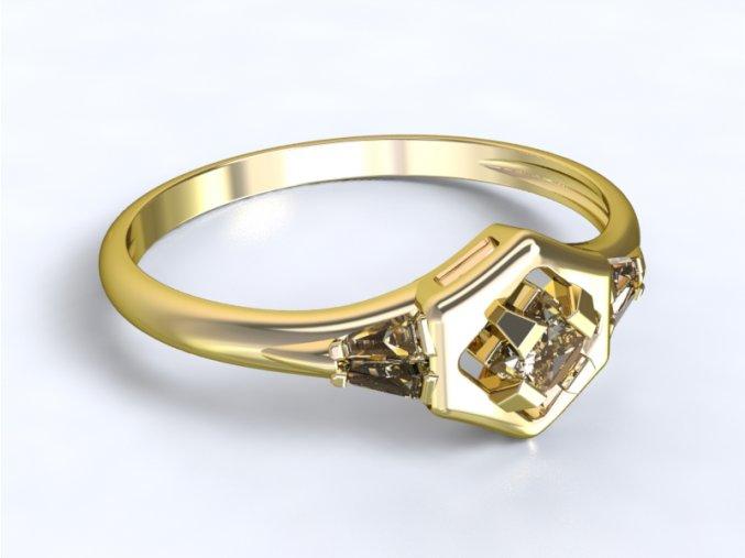 Zlatý prsten čtverec 1301601