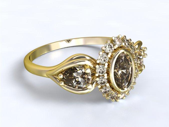 Zlatý prsten ovál 1301801