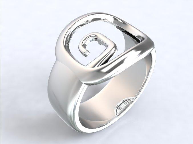 Ag925 prsten hranatá spirála