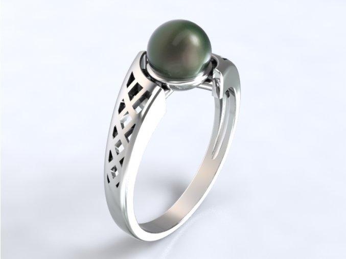 Zlatý prsten s perlou 1303801