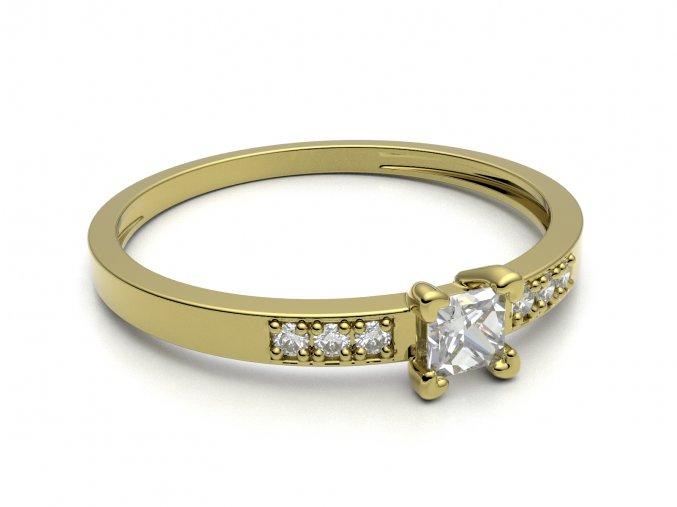 Zlatý zásnubní prsten 2300801