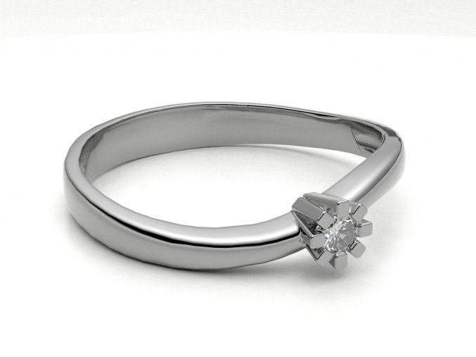 Zlatý prsten zvlněný kroužek 2301101