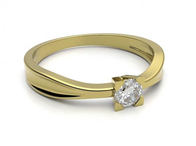 Zlatý zásnubní prsten 2301201